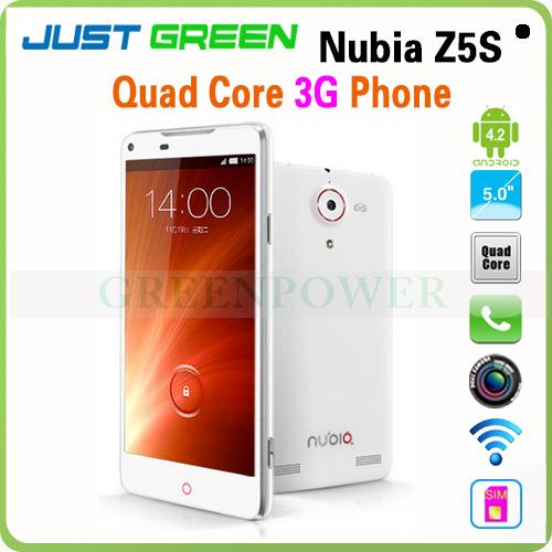 ZTE nubia z5s smartphone quad core 2.3 ghz 2gb 16gb doble cámara 5.0mp 13.0mp wcdma cdma gsm
