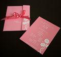 simple de papel chino tarjetas de invitación de la boda de la tarjeta