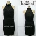 negro elegante formal del vestido más tamaño mujer 2013