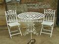 De hierro forjado de muebles al aire libre/hierro mesa y una silla