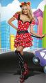 minnie mickey mouse de fantasía mujer vestido disfraz de halloween