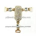 as cadeias sandália mais populares de acrílico e jóia de cristal, decoração de sapatos para sapatos de senhora