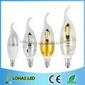 nuevo Bombilla luz lámpara de vela foco E27/e14/e12 LED E14 4W smd 2835 blanco cálido