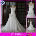 SN01 Vestido verdadero de la muestra plisado flor hecha a mano del Organza blanco de la boda