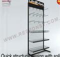 Custom Wire Mesh display racks y soportes & bueno calidad