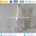 claro 750ml decorativos de vidrio de vino de la botella