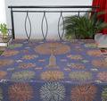 tejido de algodón de la india colchas bordadas del árbol de la vida de la hoja de cama