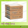 WT-PBX-1013 reciclado al por mayor cajas de regalo