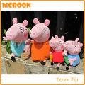 más caliente peluches 8 y 12 pulgadas peppa 4PCS peppa pig familia del cerdo peluche Peppa pig