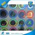venta caliente de la marca personalizada de protección hacer pegatinas de papel holográfico
