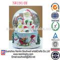design personalizado de natal de vidro decoração de bola de neve