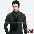 negro de estambre de lana gris bufanda para los hombres