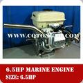 Pequeño barco de motor marino con 6.5hp