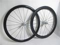 Super luz 700c completo de ruedas de carbono tubular 38mm/50mm mixta de ruedas de bicicleta con chris rey