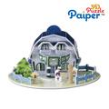 Casa de juguete modelo de espuma del arte de papel de colores para los juegos de puzzle para niños 3d