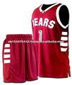 De alta calidad uniformes del baloncesto personalizado/basaketball deportes uniformes/duradera los uniformes del baloncesto
