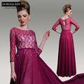 DorisQueen nouvelle arrivée une ligne originale conception magnifique bateau rouge 2014 des robes de soirée turque