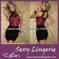 2014 Moda de Nueva vestido de una pieza del O-cuello del club Pink Negro Vestidos ML17911
