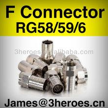 el precio de fábrica rg6 bnc hecho en china