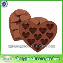 el amor del corazón de chocolate forma de silicona del molde de pastel decoración romántica para hornear de formación de hielo