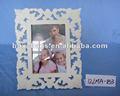 blanco de madera marco de fotos