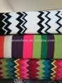 50ci94- 2 100% acrílico banda de tejido de punto jacquard de punto chal manta mantas con brida