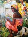 las mujeres africanas pintura