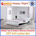 Alibaba g997# los emiratos árabes unidos suave cama de cuero tamaños opcional