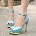 Nuevo diseño de venta al por mayor sandalias calzado mujer 13.5 cm pq2849 de alta