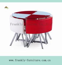 Pesados- dever redonda de jantar mesa e cadeira conjunto/sala de jantar conjunto/fdt-32