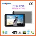 2014 venda quente 7.85 polegadas com fone de ouvido cartão de memória pc tablet para as crianças
