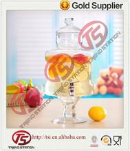 Clásica de vidrio dispensador de bebidas/jugo de dispensador de agua con grifo