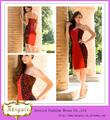 haute qualité designer dernière conception gaine rouge noir chérie court soir, photos. semi formelle robes( yw348)