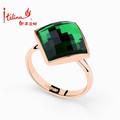 Nueva llegada de la turquesa del diseño de joyería de moda anillo verde de cristal austriaco joya