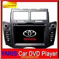 Hecho en china de radio del coche, original de dvd del coche para toyota yaris, la pantalla táctil