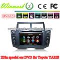Toyota YARIS específico de coches reproductor de DVD con IPOD, Bluetooth, GPS, radio, ATV, DVB-T, ATSC, CONTROL DE LA RUEDA DE S