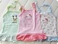 fábrica enormes de verano más barato baby princesa flores y animales de bebé impresa con volantes vestido de desgaste
