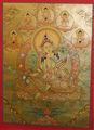- alta qualidade buddha thangka tara verde thangka tibetano artesanal do nepal