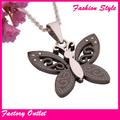 Encanto de la moda de metal colgante de la mariposa, de acero inoxidable colgante de joyería