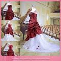 dl691 dentro de la tienda al por mayor de productos de navidad roja de la boda vestido con detalles en rojo
