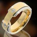venta caliente anillo de acero inoxidable compromiso