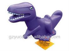 parque de atracciones de plástico de primavera rider dinosaurio