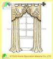 2014 vendedor caliente estilo europeo 100 de poliéster cortina de hotel con cenefa
