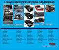 LONAS CUBRE PICK UP PARA CAMIONETAS DOBLE CABINA 4X4