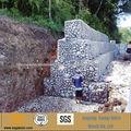 ISO certificada fabricante alambre de acero de bajo carbono galvanizado gabion rock box
