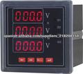 Medidor de frecuencia de voltaje de corriente de 3 fases voltímetro