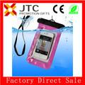 jtc mayor de promoción de pvc transparente a prueba de agua de pvc transparente bolsa de móvil para el teléfono inteligente