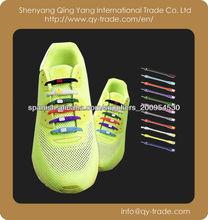 Fashional cordones de los zapatos, cordones de los zapatos de silicona