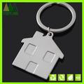 Customizável chaveiro de metal branco, casa fabricante de chaveiros