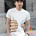 Oh- cuello de verano 3-d patrón de impresión de camisetas con mangas cortas
